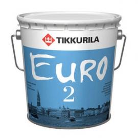 Краска для стен и потолков  Тиккурила Евро2 / Tikkurila Euro 2 латексная на основе акрилового сополимера 2,7 л