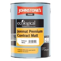 Водоэмульсионная матовая краска для стен и потолков Jonmat Premium Contract Matt Brilliant White Johnestones 5 л