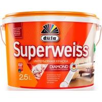 Краска акриловая Дюфа Супервайс / Dufa Superweiss RD4 ослепительно-белая  2,5 л