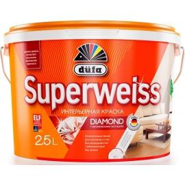 Краска акриловая Дюфа Супервайс / Dufa Superweiss RD4 ослепительно-белая  5 л