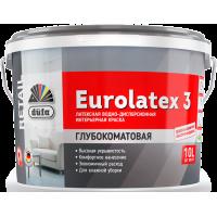 Краска водно-дисперсионная латексная Дюфа Евролатекс 3 / Dufa Retail Eurolatex-3 10л