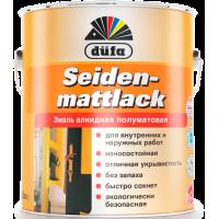 Эмаль полуматовая Дюфа / Dufa Seidenmattlack белая 2,5л